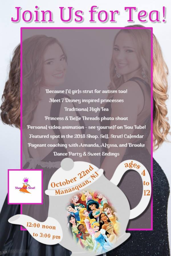 L'il Girls Strut For Autism at the Shop. Sell. Strut! Tea Party October 22